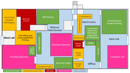 Map of the CU Community Fab Lab