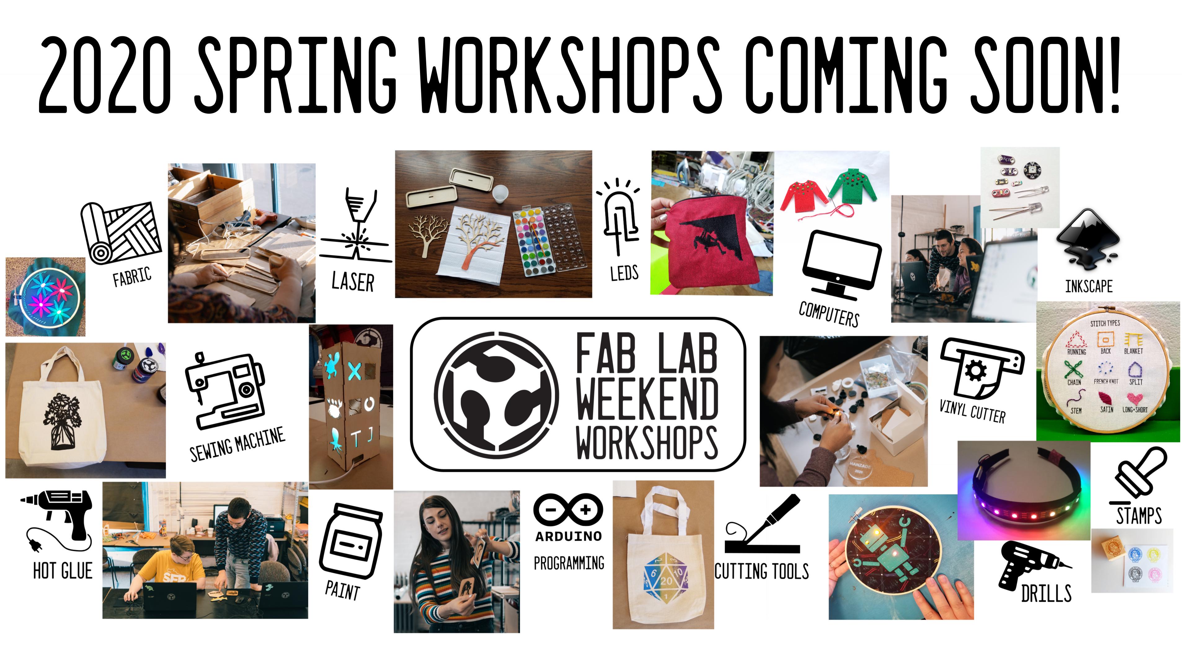 Spring 2020 Adult Workshops Coming Soon