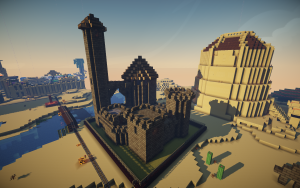 Castle model created at the Urbana Free Library. Screenshot in-game.