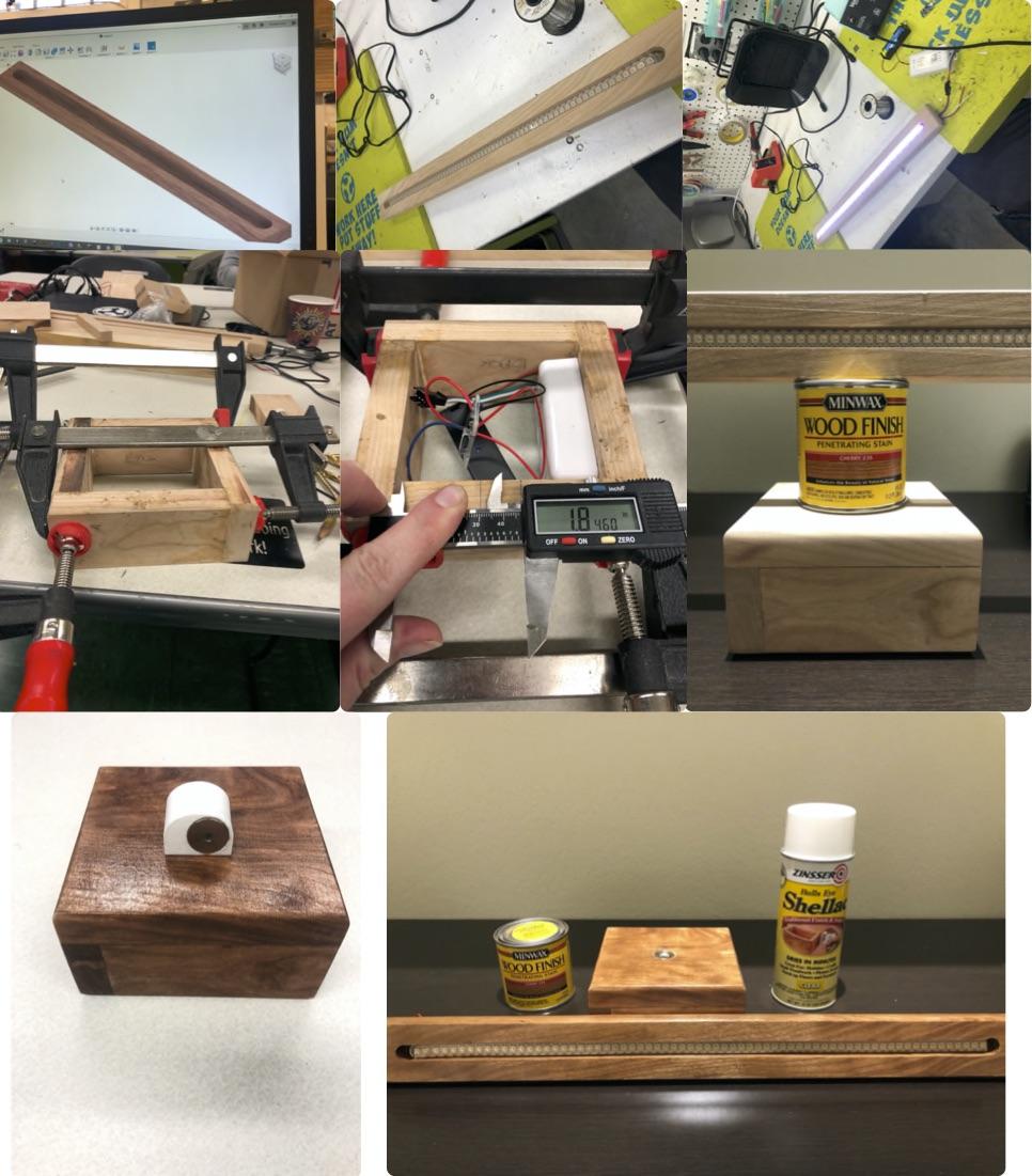 Final Project Cherry Neopixel Epoxy Multi Lamp Champaign Urbana Community Fab Lab